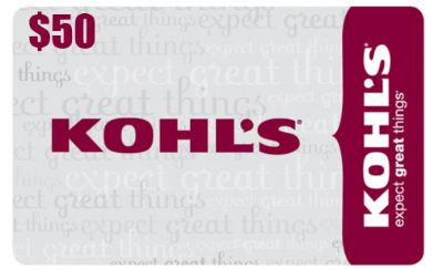 GIVEAWAY: One Reader to Win a $50 Kohl's Gift Card!