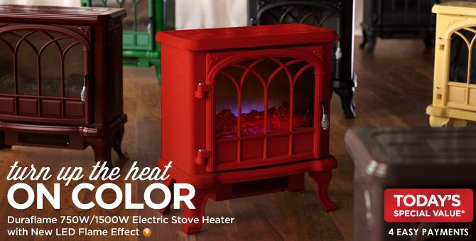 QVC: Duraflame Electric Stove Heater (8 Color Options) Under $100 ...