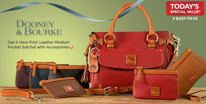 Qvc Dooney Bourke Leather Medium Pocket Satchel With Accessories Under 260 Today Only