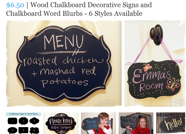 very jane wood chalkboard decorative signs blurbs 6 styles available 650 each - Decorative Chalkboards