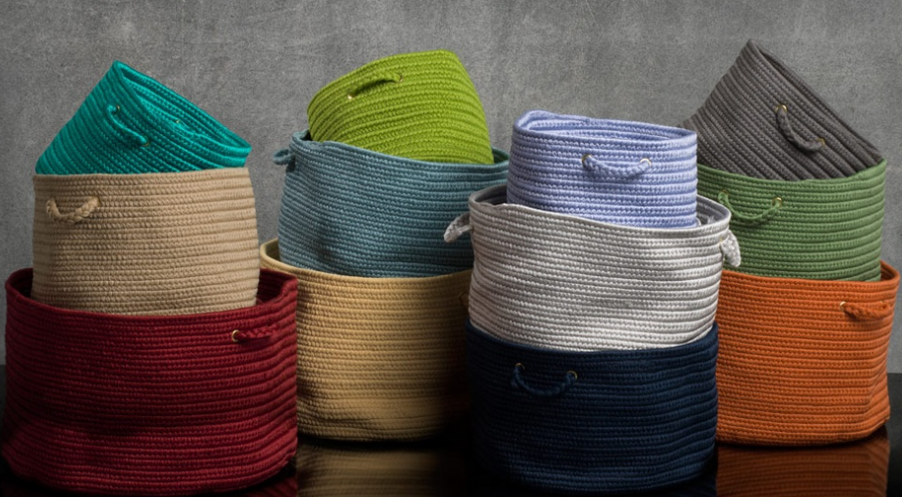 Colonial Mills Soft Storage Baskets (12 Colors) $29.99  $49.99 (Reg  $69.99 $109.99) + Free Shipping